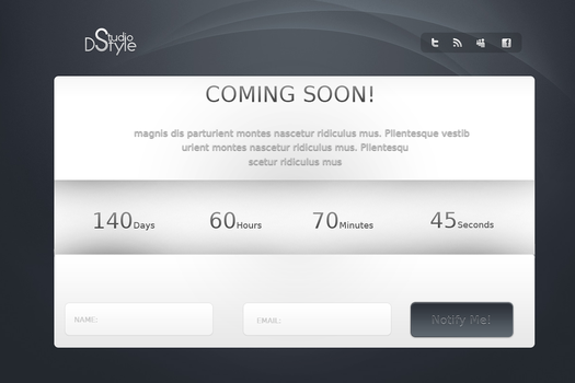 Cooming Soon Page by DanieLSsTyLe