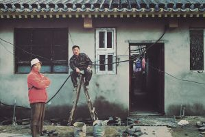 Working in the Hutong III by ornie