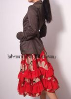 Red Brown 50s Full Skirt 2 by yystudio
