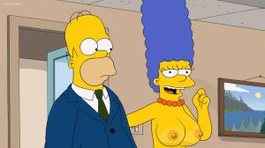 The Simpsons - Marge topless by 2ndChainMale