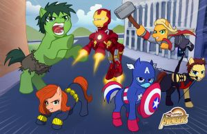 My Little Avengers by Adyon