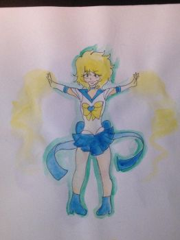 Watercolor of Uranus by UniversalFangirl
