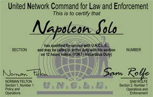 Napoleon Solo Business Card by CmdrKerner