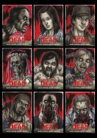 Walking Dead Comic Book Sketchcards 2 by Guy-Bigbelly