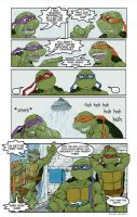 TMNT: Huh? They saw it...? XD by loolaa