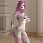 Robo-Bimbo (A Transformania Time Player Form) by Martiandawn