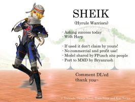 MMD Sheik (Hyrule Warriors) DL by BryanRush