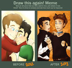 Draw Klaine again by Vintage009