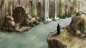 Cave Entrance Sketch by Cory-Freeman