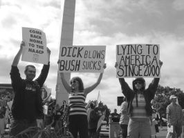 Bush Protest by rhyzz