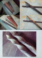 Hair Stick Set Examples by ValkyrieOfODIN