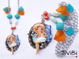 Polymer clay fairy by tivibi