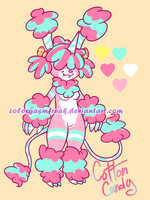 Sweet Monsterbun Adopt: Cotton Candy CLOSED by ColorgasmFreak