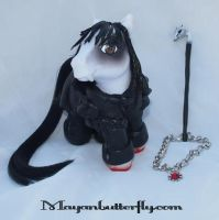 Barnabas Collins Dark Shadows Custom Vampire Pony by mayanbutterfly