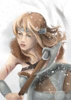 Commission .:Viking female:. by Dream-Sight