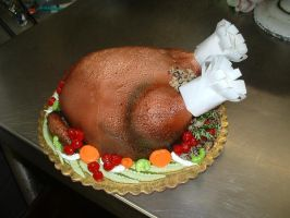 Cooked Turkey Cake by Kahlan4