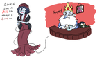 AT: Mobster time Marcy and Ice King by CosmicNarwhal