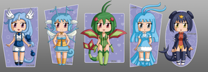 [CLOSED] ADOPTABLES: Dragon Pokemon Gijinka by izka197