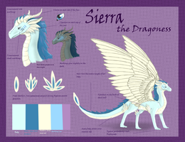 Sierra the Dragoness - OLD Reference Sheet by Elycian