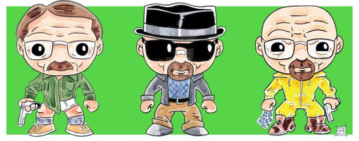 Walter White Tryptich by MBrazee
