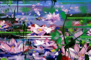 Water lilies -acrylic painting by zampedroni