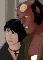 Liz Sherman and Big Red by MollyD