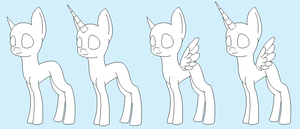 free pony base for adoptables by Luntaria