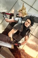 Zack and Cloud - Final Fantasy VII Cosplay - Feels by LeonChiroCosplayArt