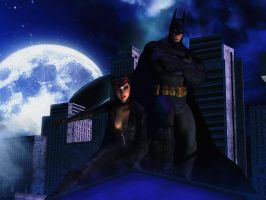 Batman : Arkham city wallpaper 3 Bat and Cat by ethaclane
