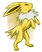 Jolteon by Silver-spirit666