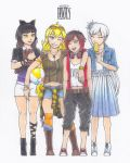 RWBY Summer Contest 2015: Team RWBY - Summer Days by CaelumPicta