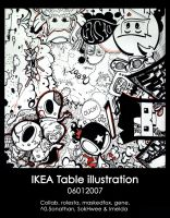 Ikea table illustration by gene89