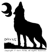 Howling Silhouette Watermark by DeltaVT