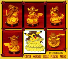 Custom Princess Belle Pikachu Amiibo Figure by pikabellechu