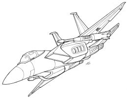 F-15 Seeker Lineart by Heatherbeast