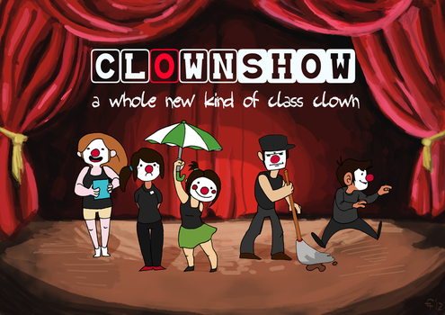 Clown Show Poster by chocohaulic