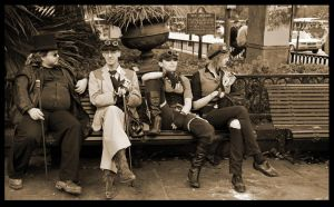 Steampunks In New Orleans by SZenz