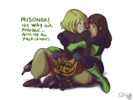 Faberry Halloween Kim and Shego by patronustrip