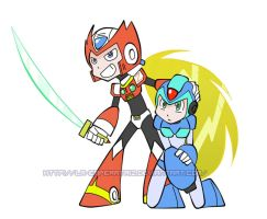 Zero and X with... what? by La-Emperatriz