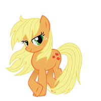 Applejack with loose mane by Tyro-MLP