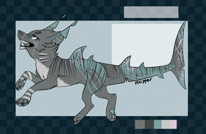 sharkdog for aki-the-wolf ! by meteorcrash