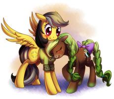 Daring Do and Greensleeves by ShinePawPony