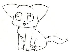 Cat/Kitten Lineart [Free to Use] by No-Aengel
