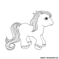 MLP Lineart 14 Baby Brother by MoogleyMog