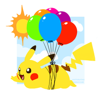 Balloon Pikachu by Zayger