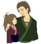 Sarutobi and Daughter by Narusailor