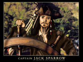 Captain Jack Sparrow - color - by Neldorwen