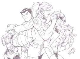 Rogue and the X-Men 2010 by LucasAckerman