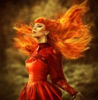 This girl is on fire by Mimiiiiz