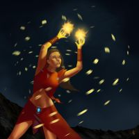 Fire Juggler by ienkub
